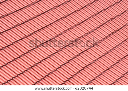 Red roofing background - stock photo