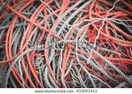 Red rope pile background