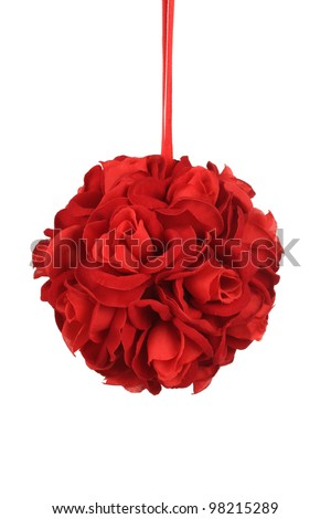 Red Rose Ball - stock photo