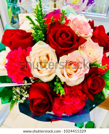 Red rose bouquet for valentine day