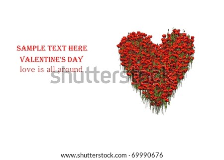 Red Rose Heart Wallpaper Love Valentine Day Card