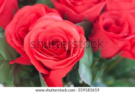 Red roses as Valentine gift. A good choice - stock photo