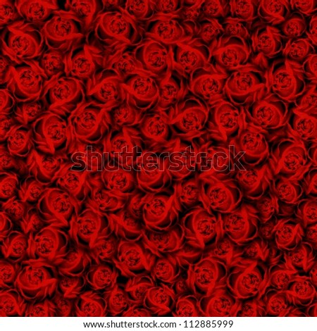 Red roses background paper