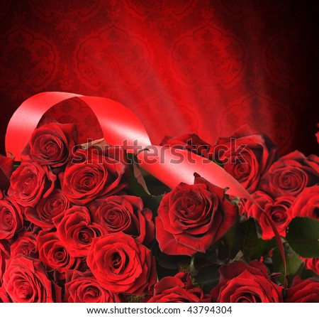 Red Roses for st.Valentine's Day - stock photo