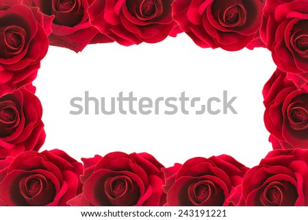 red roses  frame background  - stock photo