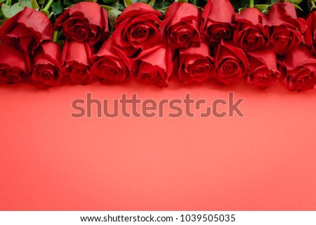 red roses on a red background