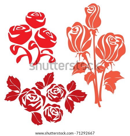 Red Roses sign two. Bitmap copy my vector ID 45307966