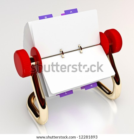 Red rotary card 1 - stock photo
