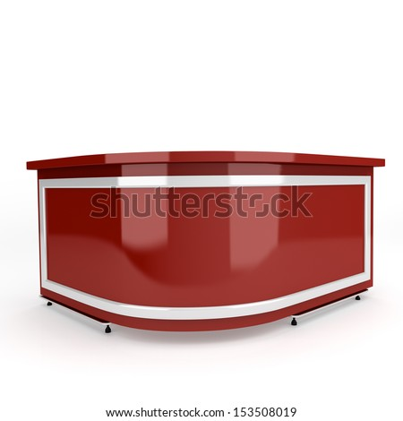 red round glossy counter. 3d render - stock photo