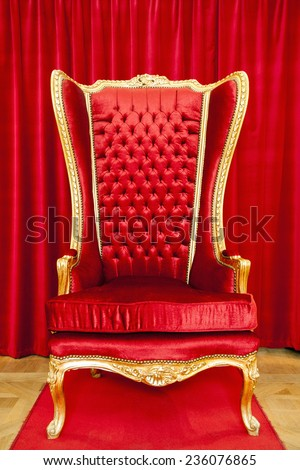 Red royal throne - stock photo
