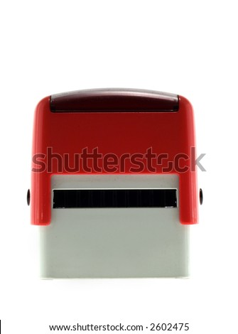 Red rubber stamp - stock photo