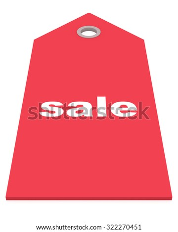 red sale label isolated