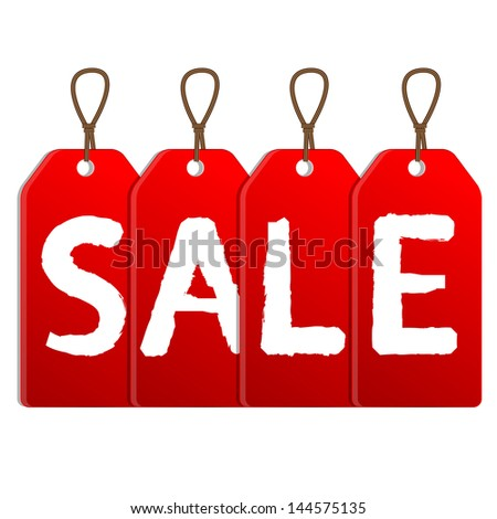 red sale tags.raster copy of vector file
