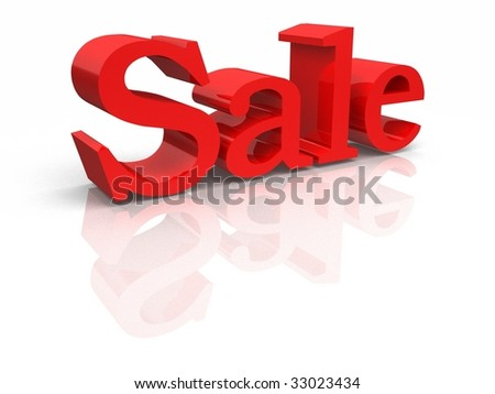 Red Sale Text