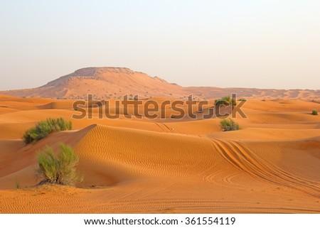 Arabian peninsula stock images royalty free images vectors red sand arabian desert near dubai united arab emirates sciox Images