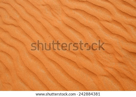 """Red sand """"Arabian desert"""" near Riyadh, Saudi Arabia - stock photo"""
