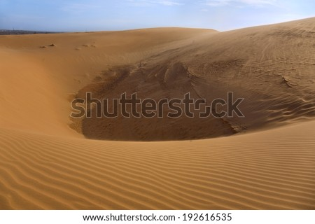 Red sand dune in Mui ne, Vietnam