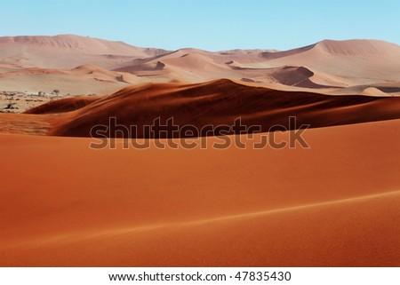 Red Sand Dunes - stock photo