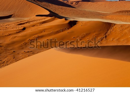 Red sand Dunes of Namibia - stock photo