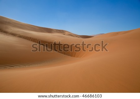 Red sand dunes of sossusvlei namibia - stock photo