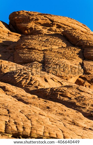Red Sandstone Rocks in Red Rock Canyon, Nevada, USA - stock photo