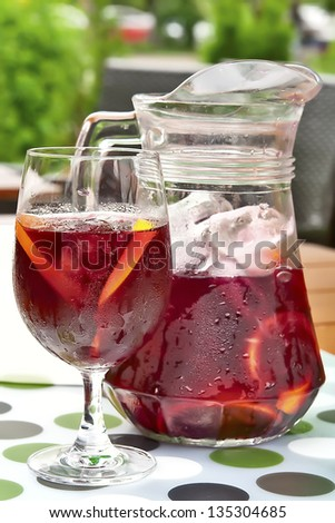 Red sangria - stock photo