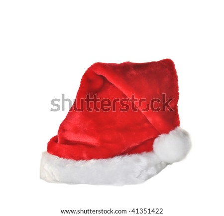 red santa claus hat