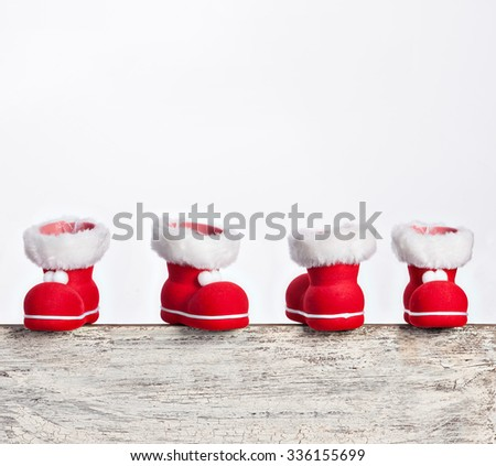 Red Santa's boots - stock photo