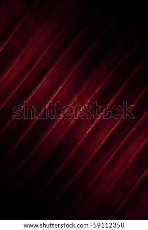 red  satin background with stripes - stock photo