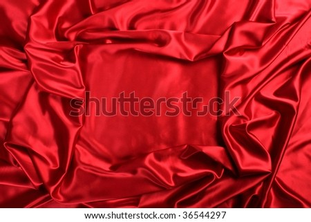 red satin cloth frame background