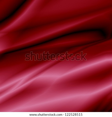 Red Satin Fabric - stock photo