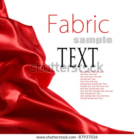 red satin fabric with place for your text - stock photo