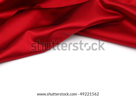 red satin isolated - stock photo