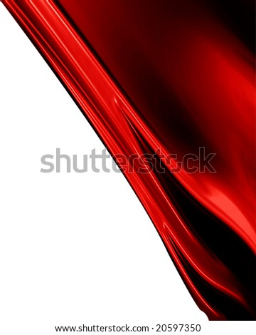 red satin with some smooth lines in it - stock photo