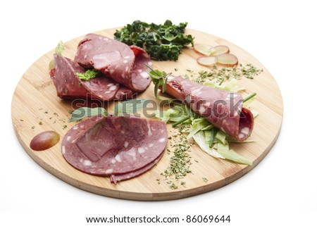 Red sausage - stock photo
