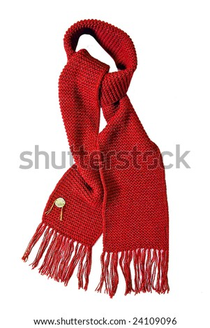 red scarf - stock photo