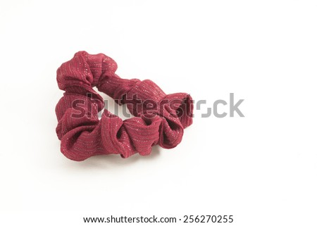 Red scrunchie - stock photo