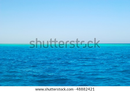 Red sea and blue sky, Egypt