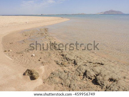 Red sea coast. Sinai peninsula in Egypt