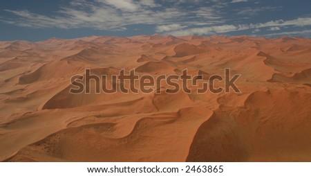 Red Sea of sand dunes near Sossusvlei, Namibia - stock photo