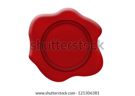 Red sealing wax - stock photo