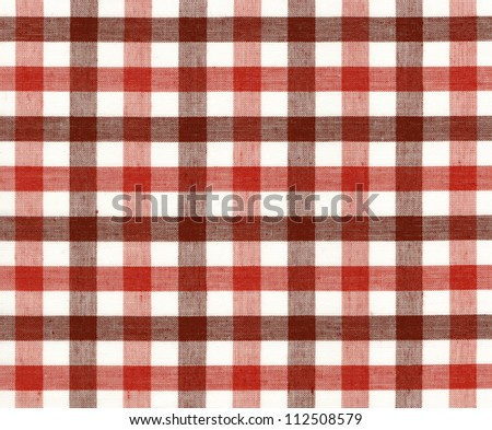 Red seamless pattern tablecloth picnic fabric texture - stock photo