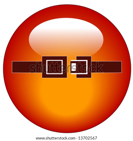 red seatbelt indicator web button or icon - stock photo