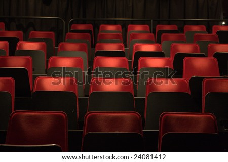 red seats - stock photo