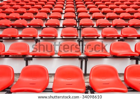 Red seats in stadium