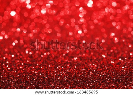 Red shiny glitter holiday beautiful background - stock photo