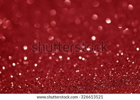 Red shiny glitter holiday beautiful background - stock photo