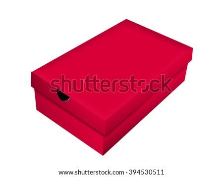 Red Shoe Box - stock photo