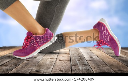 red shoes  - stock photo