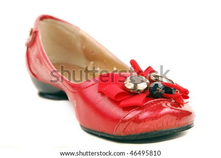 red shoes for women on a white background